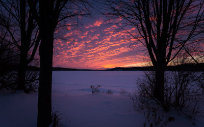 Cootes Sunset in Winter