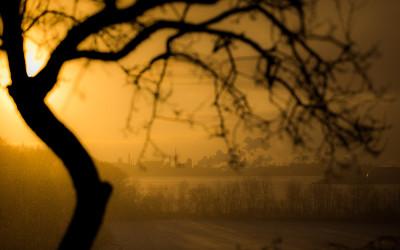 Industrial winter sunrise