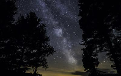 Haliburton Lake and Stars